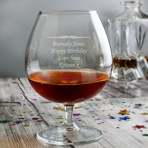 Decorative Personalised Brandy Glass